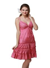 Port Exclusive Pink Satin Night Wear For Women's