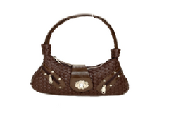 Port Exclusive Brown Leather Shoulder Bag