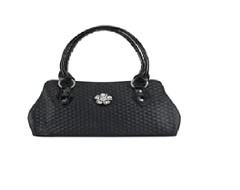 Port Exclusive Black Leather Shoulder Bag