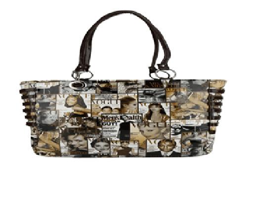 Port Exclusive Digital Printed Leather Shoulder Bag