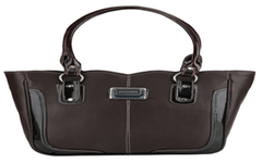 Port Exclusive Black Leather Shoulder Bag