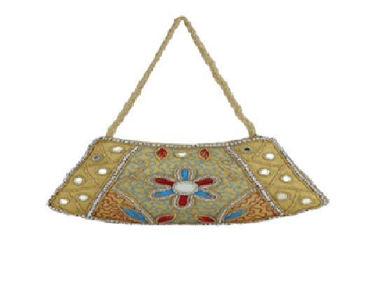 Port Exclusive Gold Embroidered Clutch