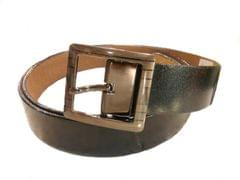 Port Black Casual Leather Belt For Men's