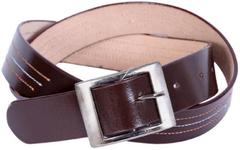 Port Dark Brown Casual Leather Belt For Men's