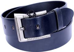 Port Blue Casual Leather Belt For Men's