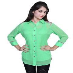 Port Exclusive Green Women's Casual Top