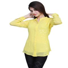 Port Exclusive Yellow Women's Casual Top
