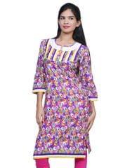 Port Multicolor Cotton Printed Women's Casual Kurti