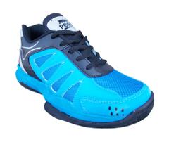 Port Shinaider Electric Blue PU Badminton Shoes For Men's