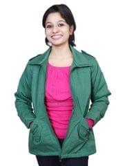 Neva Green Zippered Women's Jackets
