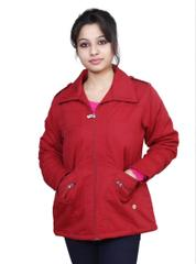 Neva Red Women's Zippered Jackets
