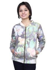 Neva Floral Fleece Sweatshirts For Women's