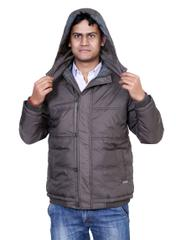 Neva Olive Hooded Jackets For Men's