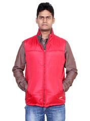 Neva Red Sleeveless Jackets For Men's