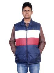 Neva Blue Sleeveless Jackets For Men's