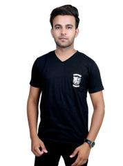 Neva Casual Black V-Neck T-Shirts For Men's