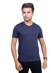 Neva Casual Blue Round Neck T-Shirts For Men's