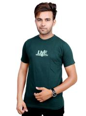 Neva Casual Green Round Neck T-Shirts For Men's