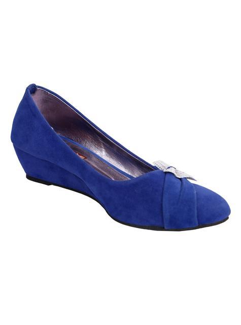Port Blue Wedge ballerinas For Women's
