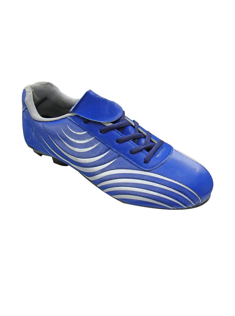 Port Stud Blue PU Football Shoes For Men's