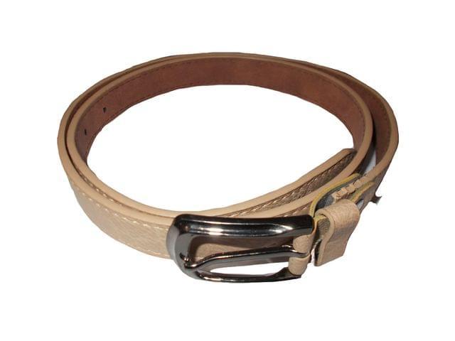 Elvi's Ladies Leather Belt yellow