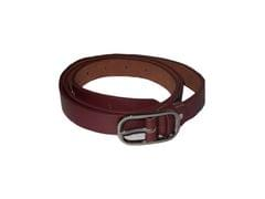 Elvi's Ladies Leather Belt Dark Brown