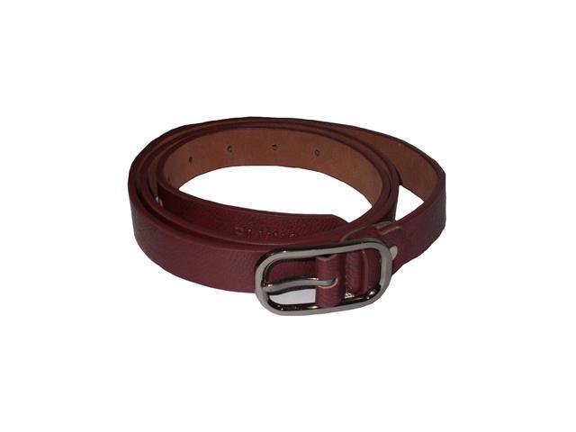 Elvi's Ladies Leather Belt Dark Brown