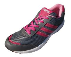 Port Unisex Pink Tic Toe Mesh Runing Shoes