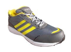 Port Verdin Grey Yellow PU Gym & Training Shoes For Men's