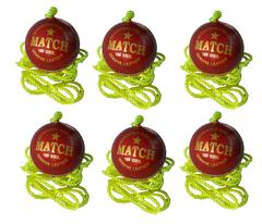 Port Leather Hanging Practice ball pack of 6(Red)
