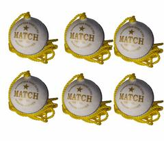 Port Leather Hanging Practice ball pack of 6(White)