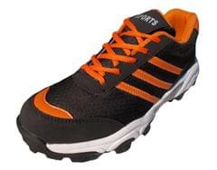 Port Men's Orange Vibram Mesh Cricket Shoes