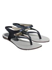 Port Women Black Flats sandal