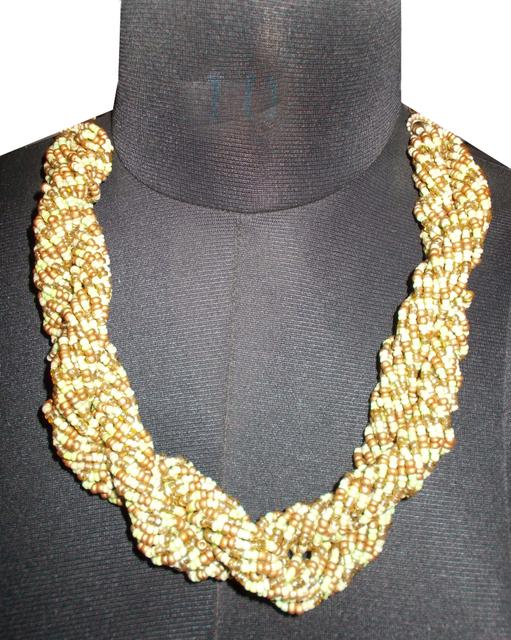 Port Exclusive Multicolored Party Wear Handmade Twisted Necklace