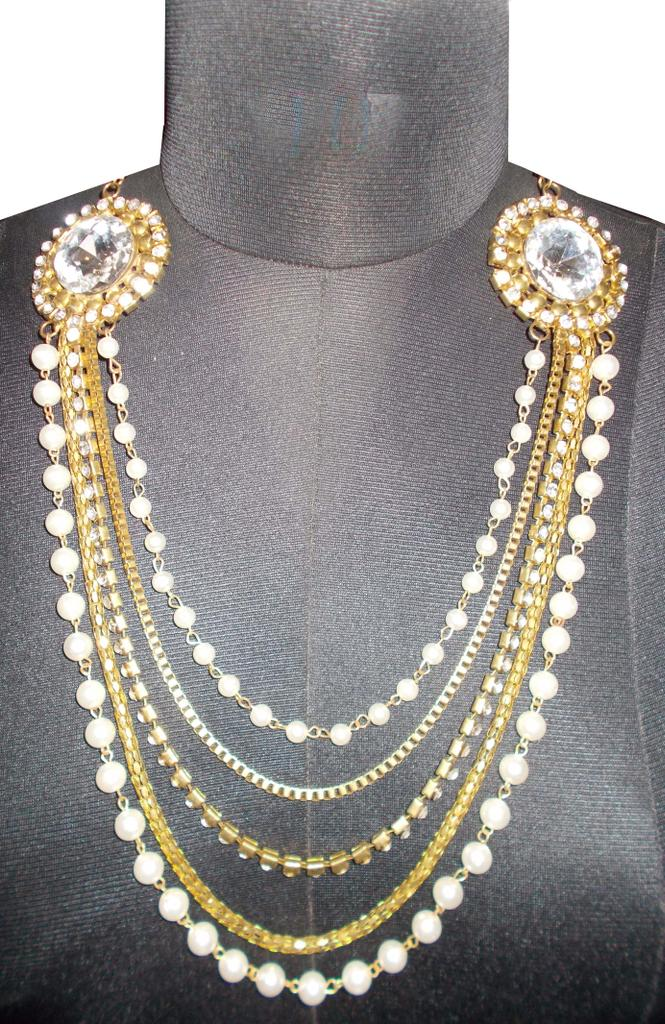 Port Exclusive Gold Plated Stones Studded Necklace Sets