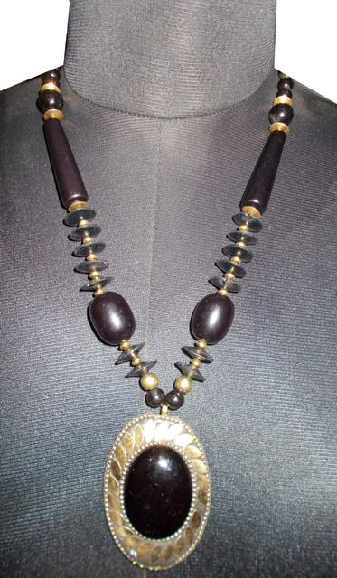 Port Exclusive Handmade Black Beaded Necklace