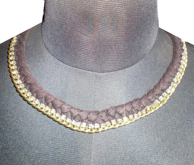 Port Exclusive Handmade Umber Braided necklace
