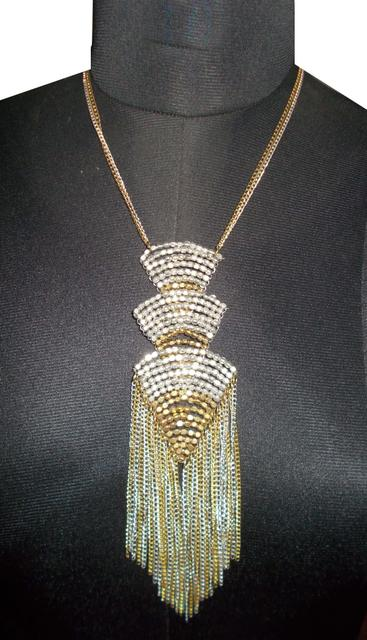 Port Exclusive Gold & Silver Stones Studded Necklace