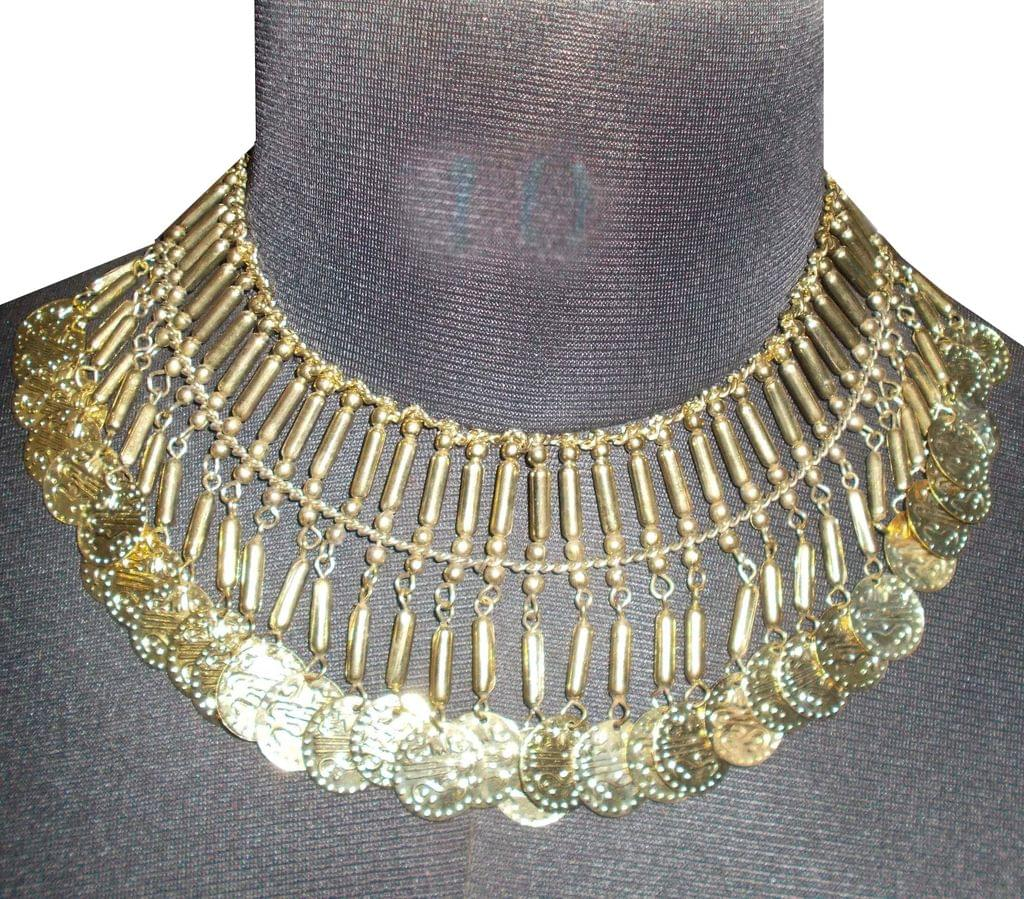 Port Exclusive Gold Plated Coin Studded Necklace