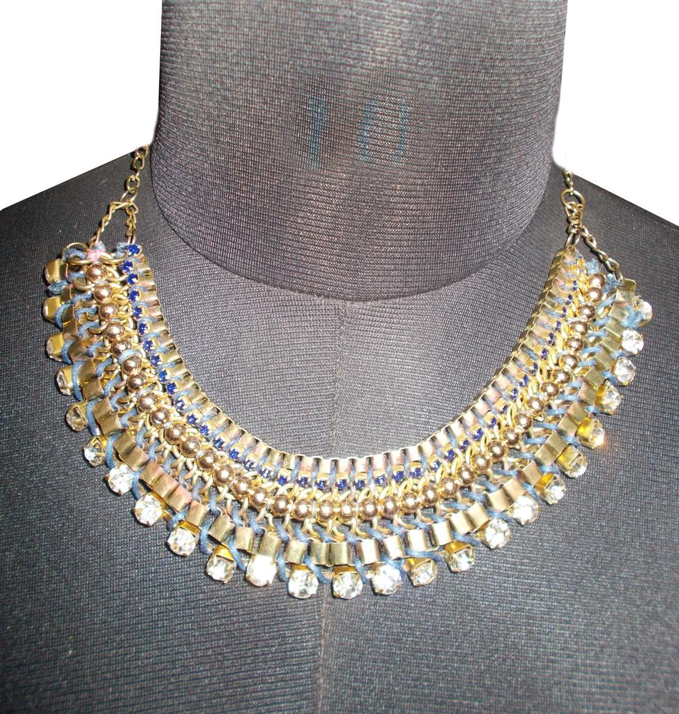 Port Exclusive Handmade Gold Plated Crystal Stones Studded Necklace