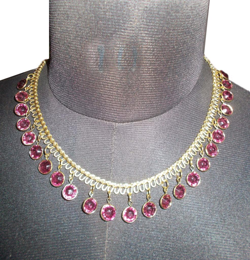 Port Exclusive Gold Plated Stone Studded Necklace