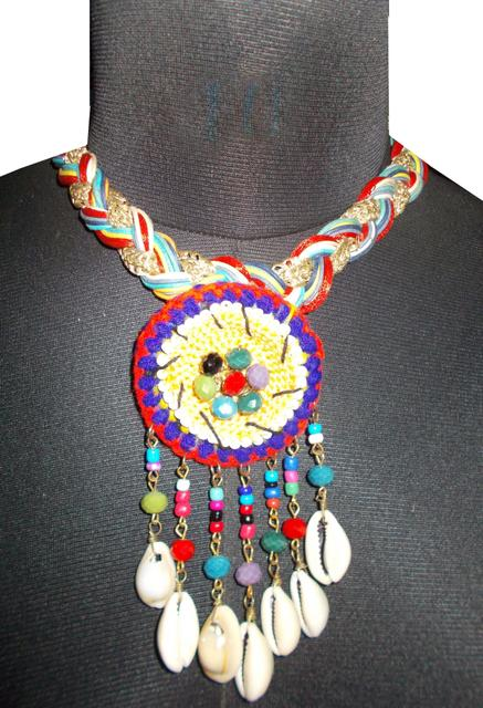 Port Exclusive Multicolored Sea Shell Studded Necklace