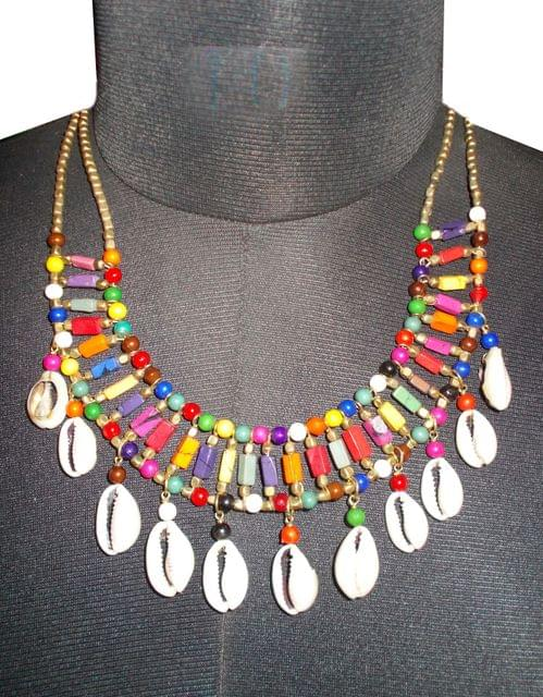 Port Exclusive Multicolored Sea Shell Necklace Set