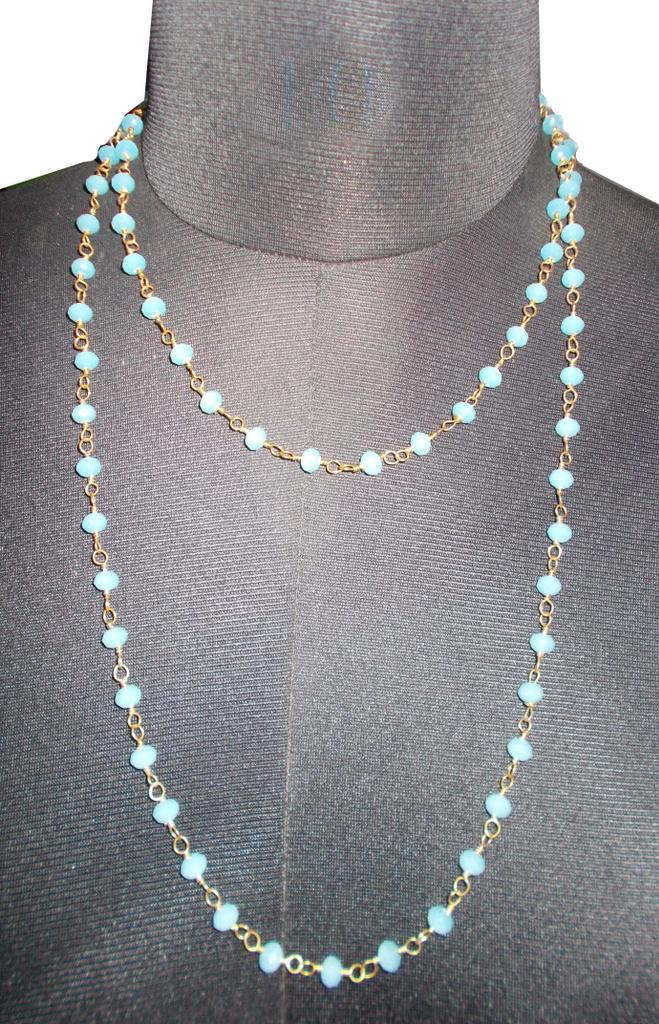 Port Exclusive Turquoise Stone Mala Necklace