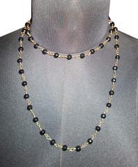 Port Exclusive Black Beaded Mala Necklace