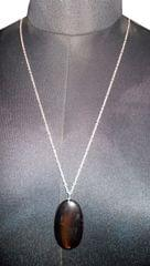 Port Exclusive Black Pendant With Silver Plated Chain
