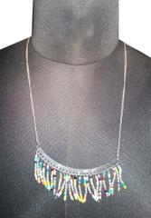Port Exclusive Multicolored Beaded Silver Plated Chain