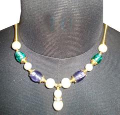 Port Exclusive Multicolored Beaded Necklace