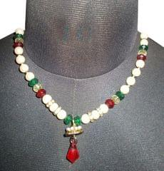 Port Exclusive Multicolored Pearl Studded Necklace