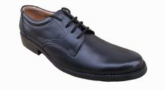Port Men's Black Lace up Office Wear Formal Shoes